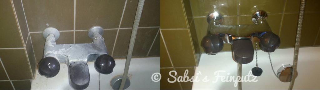 Amaturen einer Badewann- dies war mal wieder eine Extrem verschmutzte Wohnung